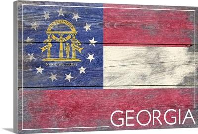 Georgia State Flag, Barnwood Painting