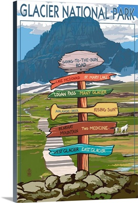 Glacier National Park, Going-To-The-Sun Road, Destination Signs
