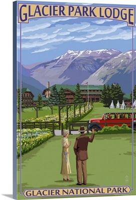 Glacier Park Lodge - Glacier National Park, Montana: Retro Travel Poster