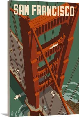 Golden Gate Bridge Aerial, San Francisco, California