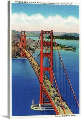 Golden Gate Bridge Aerial View, San Francisco, CA