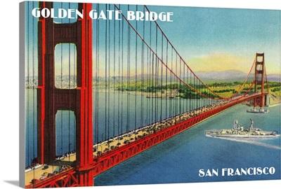Golden Gate Bridge from Marin Shore, San Francisco, CA