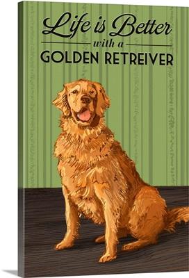 Golden Retriever, Life is Better