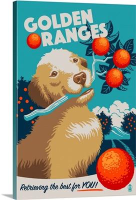 Golden Retriever, Retro Oranges Ad
