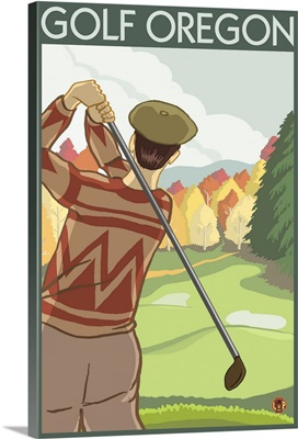 Golf Oregon State: Retro Travel Poster