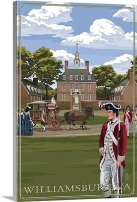 Governor's Palace - Williamsburg, Virginia: Retro Travel Poster