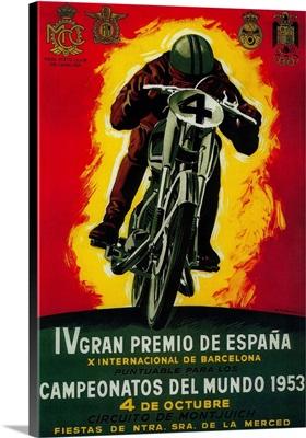 Gran Premio de Espana Vintage Poster, Europe