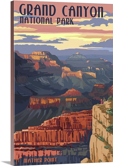 Grand Canyon National Park - Mather Point: Retro Travel