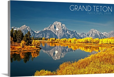 Grand Teton National Park, Wyoming, Fall Colors at Oxbow Bend