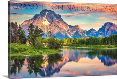 Grand Teton National Park, Wyoming, Sunrise and Snake River