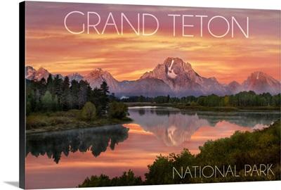 Grand Teton National Park, Wyoming, Sunset and Mountains