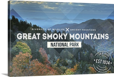 Great Smoky Mountains National Park Typography