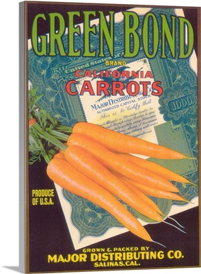 Green Bond Carrot Label, Salinas, CA