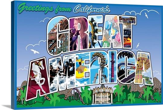 Greetings from californias great america retro travel poster wall greetings from californias great america retro travel poster m4hsunfo