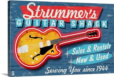 Guitar Shop, Vintage Sign
