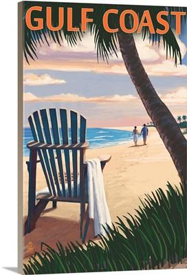 Gulf Coast, Adirondack Chairs and Sunset