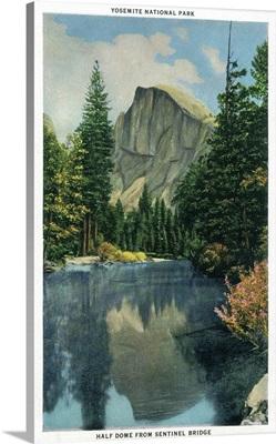 Half Dome from Sentinel Bridge, Yosemite, CA
