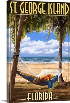 Hammock - St. George Island, Florida: Retro Travel Poster