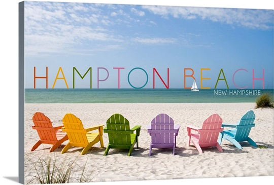 Hampton Beach New Hampshire Colorful Chairs