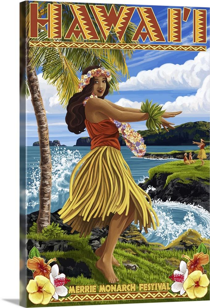 The Vintage hawaiian hula girl art remarkable