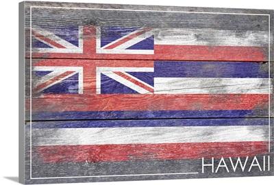 Hawaii State Flag, Barnwood Painting