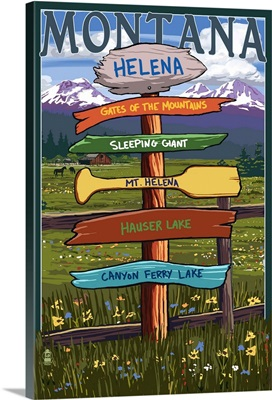 Helena, Montana, Destination Signpost