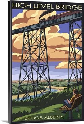 High Level Bridge - Lethbridge, Alberta: Retro Travel Poster