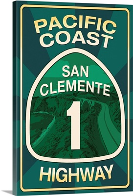 Highway 1, California, San Clemente, Pacific Coast Highway Sign