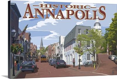 Historic Annapolis, Maryland Street View