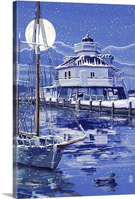 Hooper Strait Lighthouse in Winter - St. Michaels, Maryland