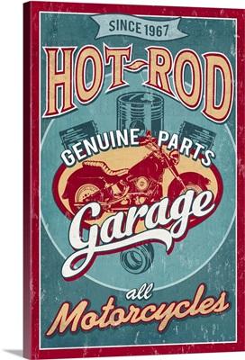 Hot Rod Garage, Vintage Sign