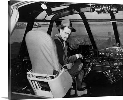 Howard Hughes in Spruce Goose Wooden Plane, Los Angeles, CA