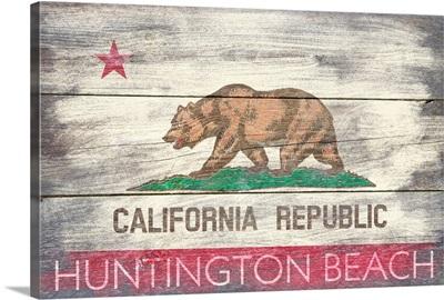 Huntington Beach, California, State Flag, Barnwood Painting