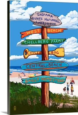 Indiana Dunes National Seashore, Indiana, Destination Signpost