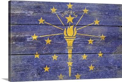 Indiana State Flag, Barnwood Painting
