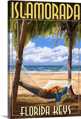 Islamorada, Florida Keys - Hammock Scene: Retro Travel Poster