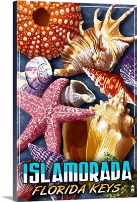 Islamorada, Florida Keys - Shells: Retro Travel Poster