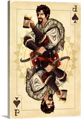 Jack of Spades - Playing Card: Retro Travel Poster