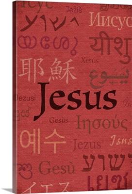 Jesus World Languages - Inspirational - Lantern Press Artwork: Retro Travel Poster