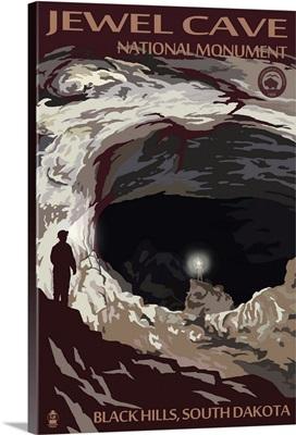 Jewel Cave National Monument - Black Hills, South Dakota: Retro Travel Poster