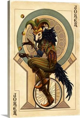 Joker - Playing Card: Retro Art Poster