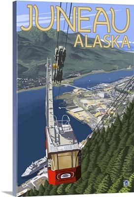 Juneau, Alaska - Mt. Roberts Tram: Retro Travel Poster