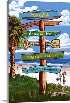 Kauai, Hawaii, Destination Signpost