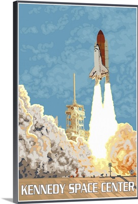 Kennedy Space Center: Retro Travel Poster