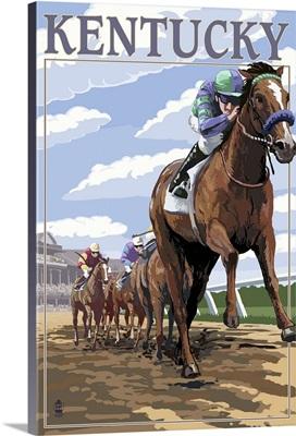 Kentucky, Horse Racing Track Scene