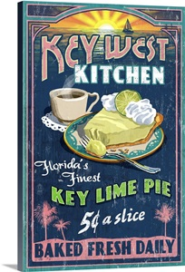 Key West Florida Key Lime Pie Vintage Sign Retro Food