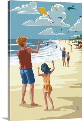 Kite Flyers: Retro Poster Art
