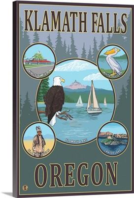 Klamath Falls, Oregon: Retro Travel Poster