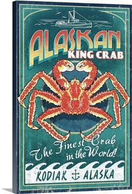 Kodiak, Alaska, King Crab Vintage Sign
