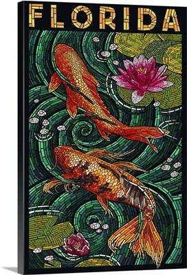 Koi Paper Mosaic - Florida: Retro Travel Poster